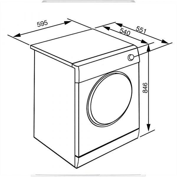 disegno tecnico asciugatrice smeg