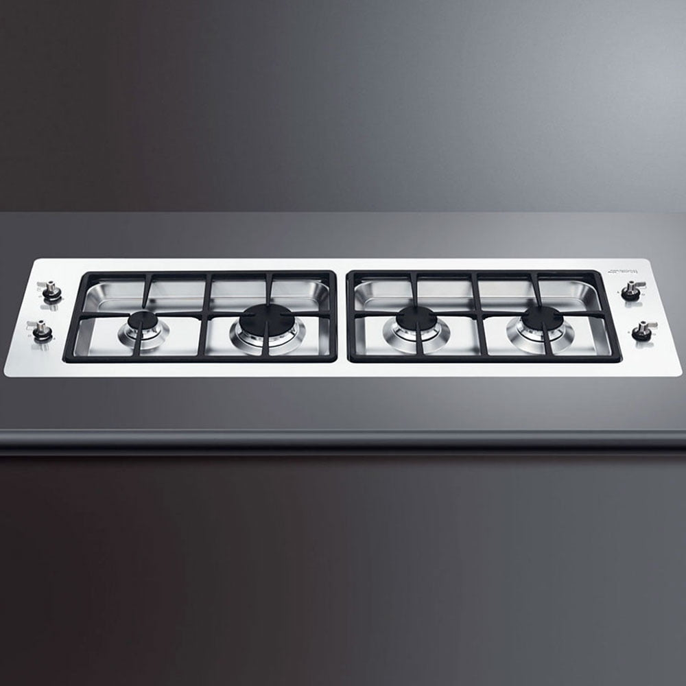 Piano cottura a Gas Smeg PDXF116RS filo top 116 Cm Inox
