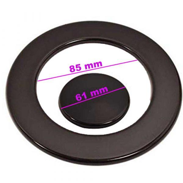 Piattello corona + centrale Ariston piccolo 61mm grande 85 mm int. = C00053174